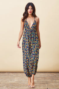 GENIE JUMPSUIT IN PINEAPPLE PRINT