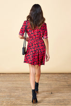 ZEINA MINI WRAP DRESS IN POPPY PRINT