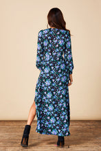 JAGGER MAXI IN BLUE ROSE DITZY