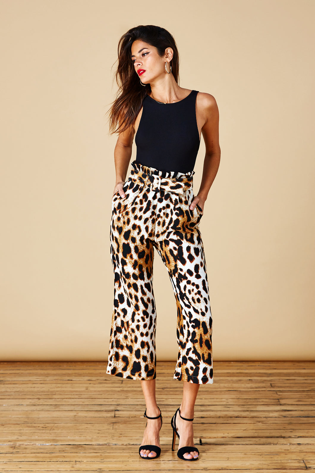 BRONX TROUSERS IN NATURAL LEOPARD