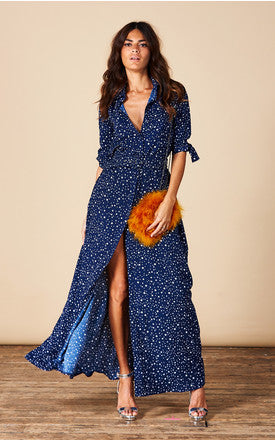 DOVE DRESS IN NAVY STAR