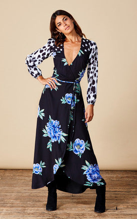 JAGGER MAXI IN BLUE PEONY MIX