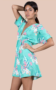 MILANO DRESS IN GREEN TROPICAL