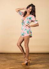 TIAGO PLAYSUIT IN PINK TROPICAL