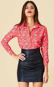 SAN DIEGO SHIRT IN RED DAISY