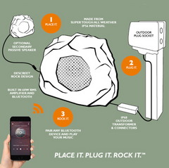 lithe rock speaker set up garden