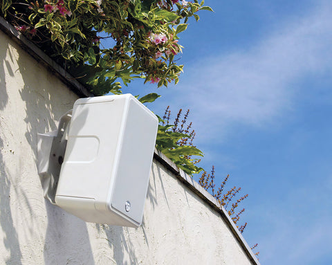 Wall mounted outdoor speakers