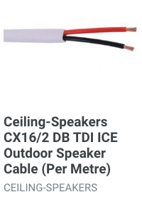 Outdoor speaker cable