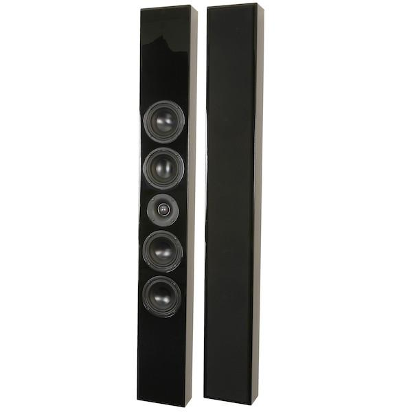 DLS Flatbox Slim XL On Wall Speaker Black (Each) - Open Box