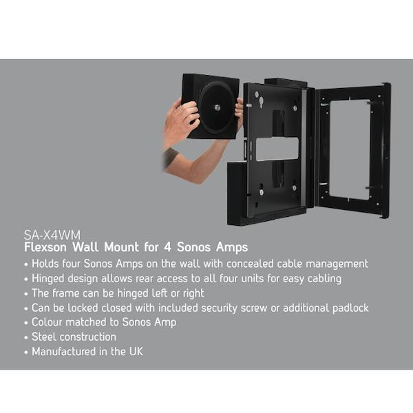 Flexson Wall Mount For 4x Sonos Amps (Each)