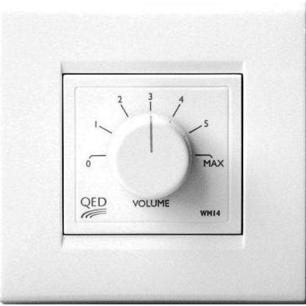 QED WM14 Wall plate with volume control (Each)