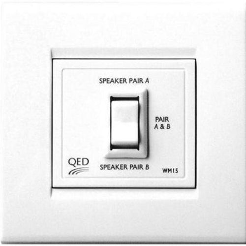 QED WM15 Two-way speaker switch wall plate (Each)