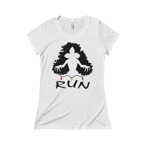 demogorgon run stranger things women's t-shirt Nerdedness