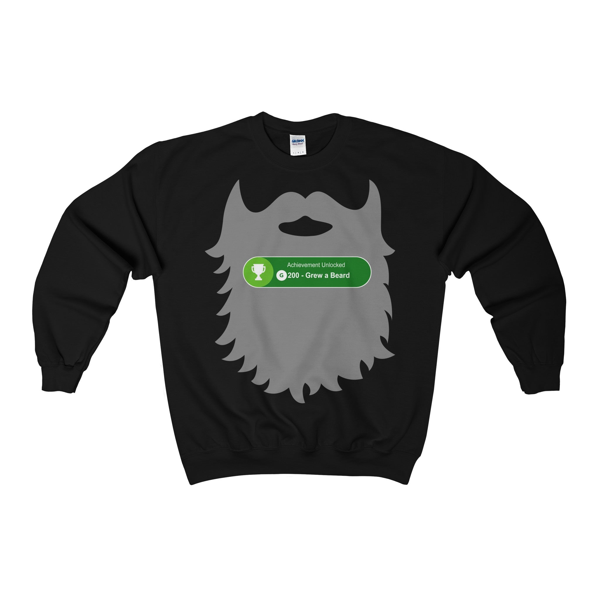 achievement unlocked xbox gaming grew beard men's unisex sweatshirt jumper