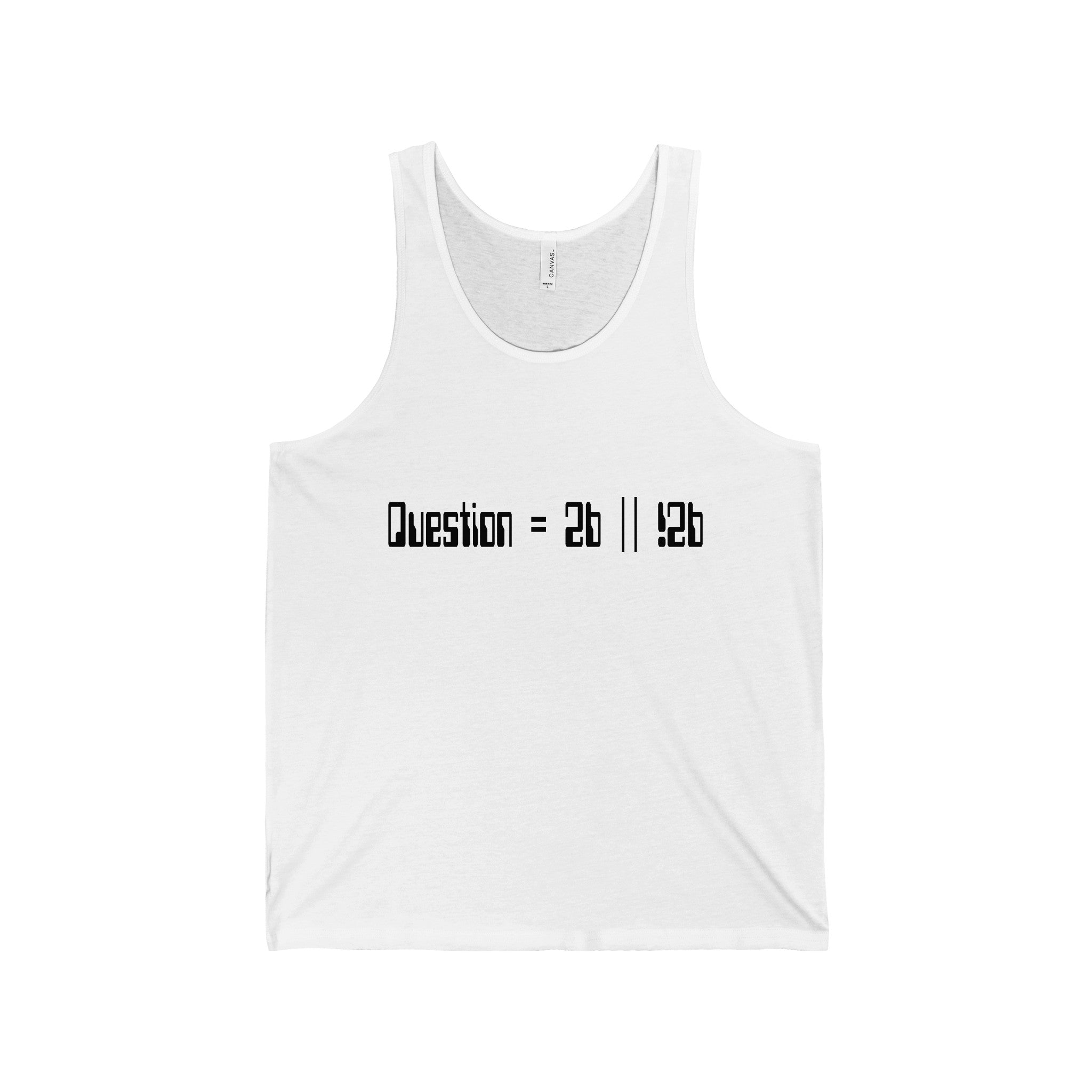 to be or not to be pseudocode men's unisex tank top Nerdedness