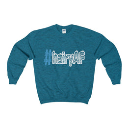 hairyAF hashtag #hairyAF men's unisex sweatshirt Nerdedness