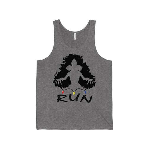 demogorgon run stranger things men's unisex tank top Nerdedness