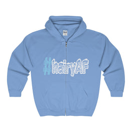 hairyAF hashtag #hairyAF men's unisex zip hoodie Nerdedness