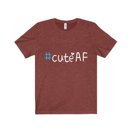 cuteAF hashtag #cuteAF men's unisex t-shirt Nerdedness