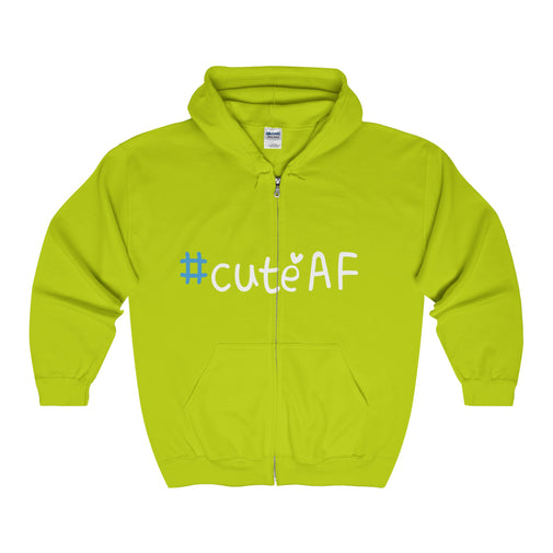 cuteAF hashtag #cuteAF men's unisex zip hoodie Nerdedness