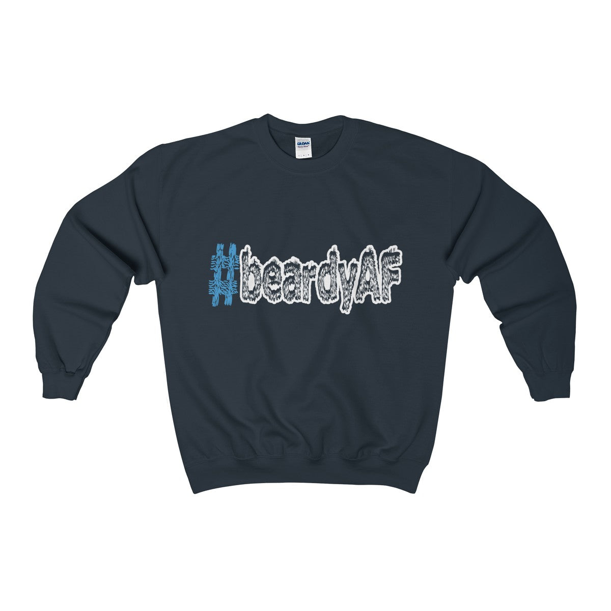 beardyAF hashtag #beardyAF men's unisex sweatshirt Nerdedness