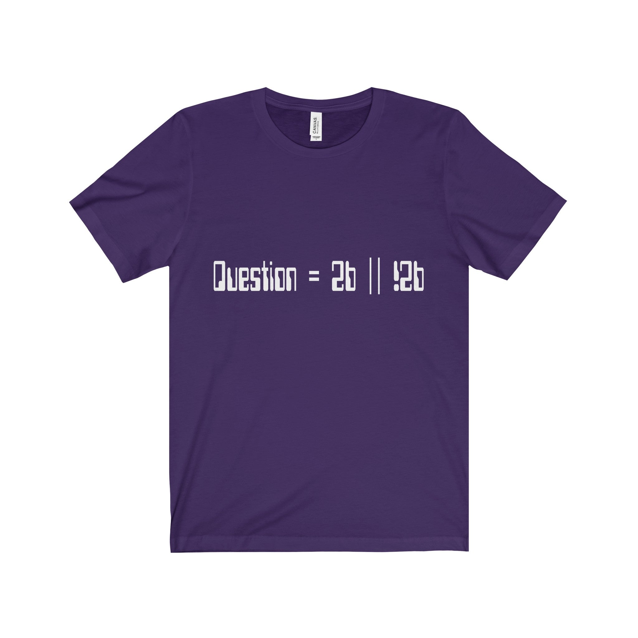 to be or not to be pseudocode men's unisex t-shirt Nerdedness