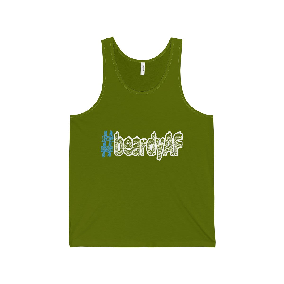 beardyAF hashtag #beardyAF men's unisex tank top Nerdedness