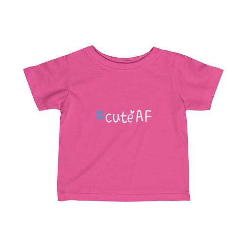 cuteAF hashtag #cuteAF infant's unisex t-shirt Nerdedness