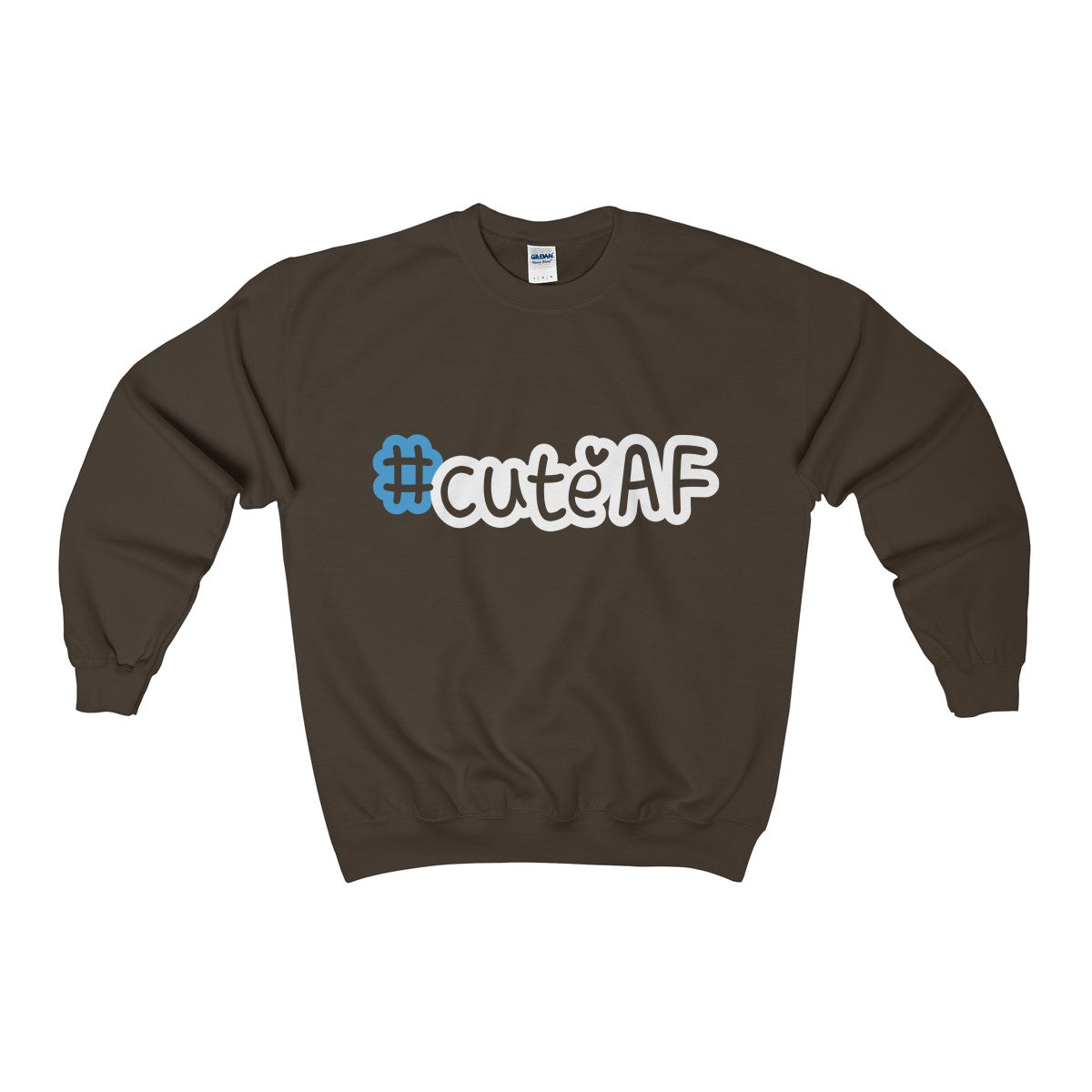 cuteAF hashtag #cuteAF men's unisex sweatshirt Nerdedness