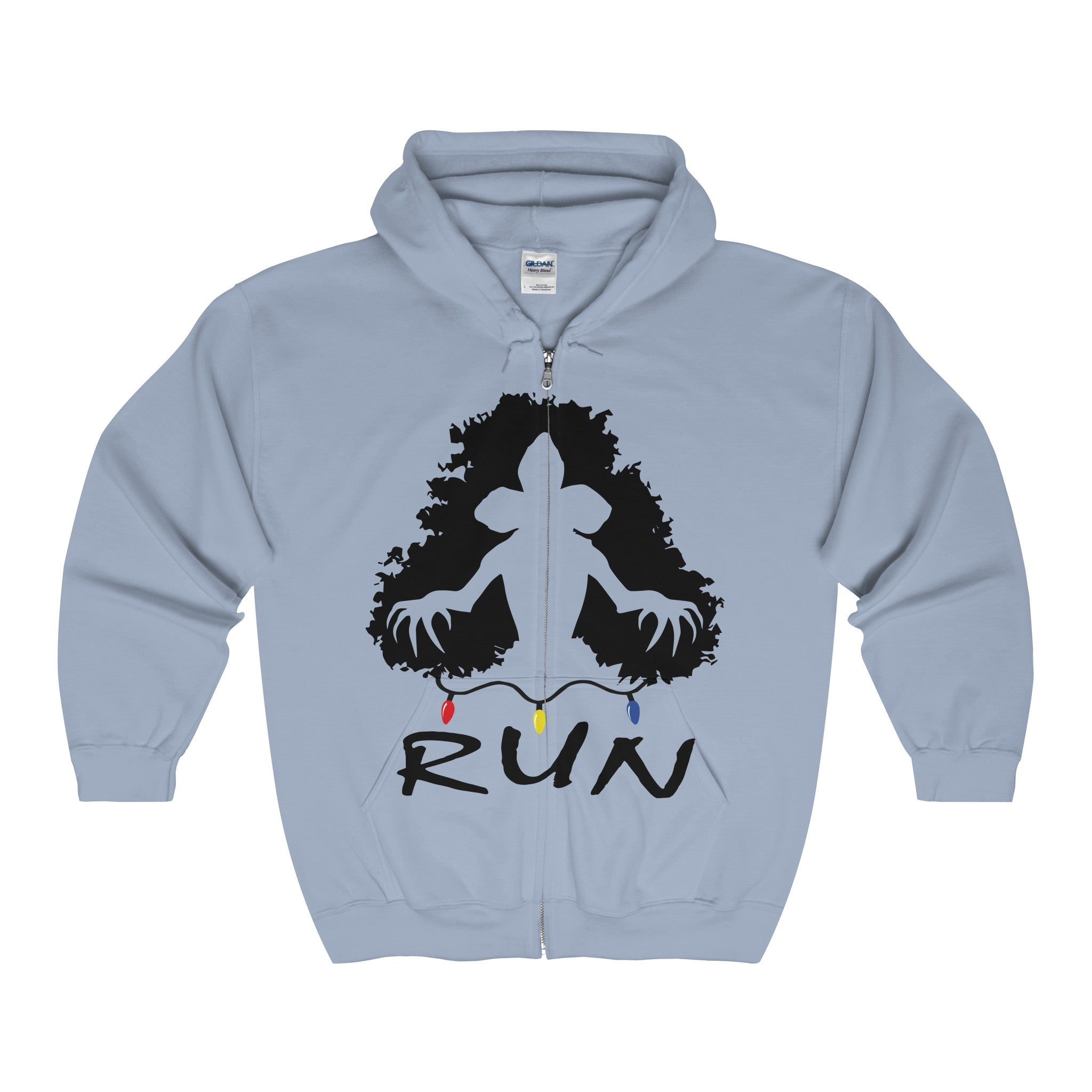 demogorgon run stranger things men's unisex zip hoodie Nerdedness
