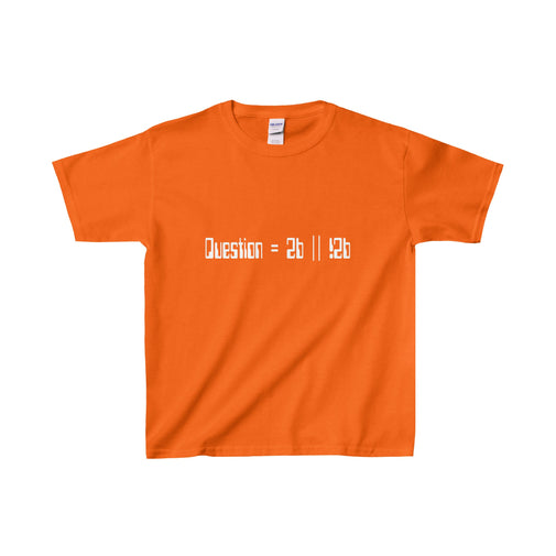 to be or not to be pseudocode kid's unisex t-shirt Nerdedness