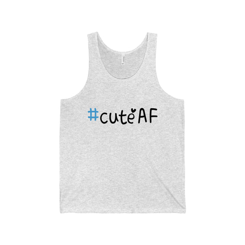cuteAF hashtag #cuteAF men's unisex tank top Nerdedness
