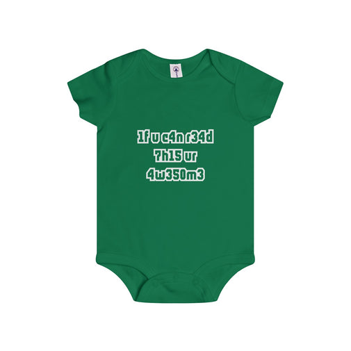if you can read this you're awesome infant's unisex onesie Nerdedness