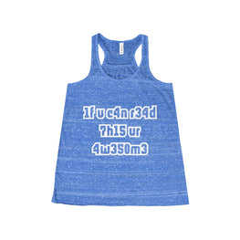 if you can read this you're awesome women's tank top Nerdedness