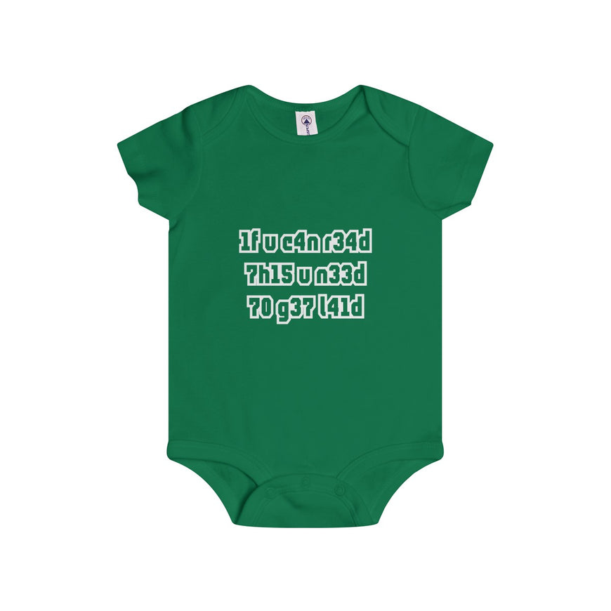 if you can read this you need to get laid infant's unisex onesie Nerdedness