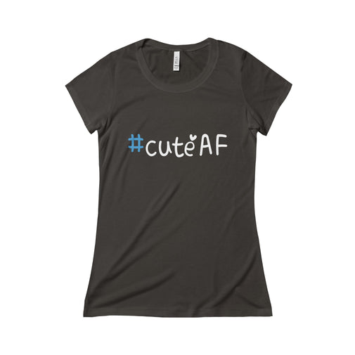 cuteAF hashtag #cuteAF women's t-shirt Nerdedness