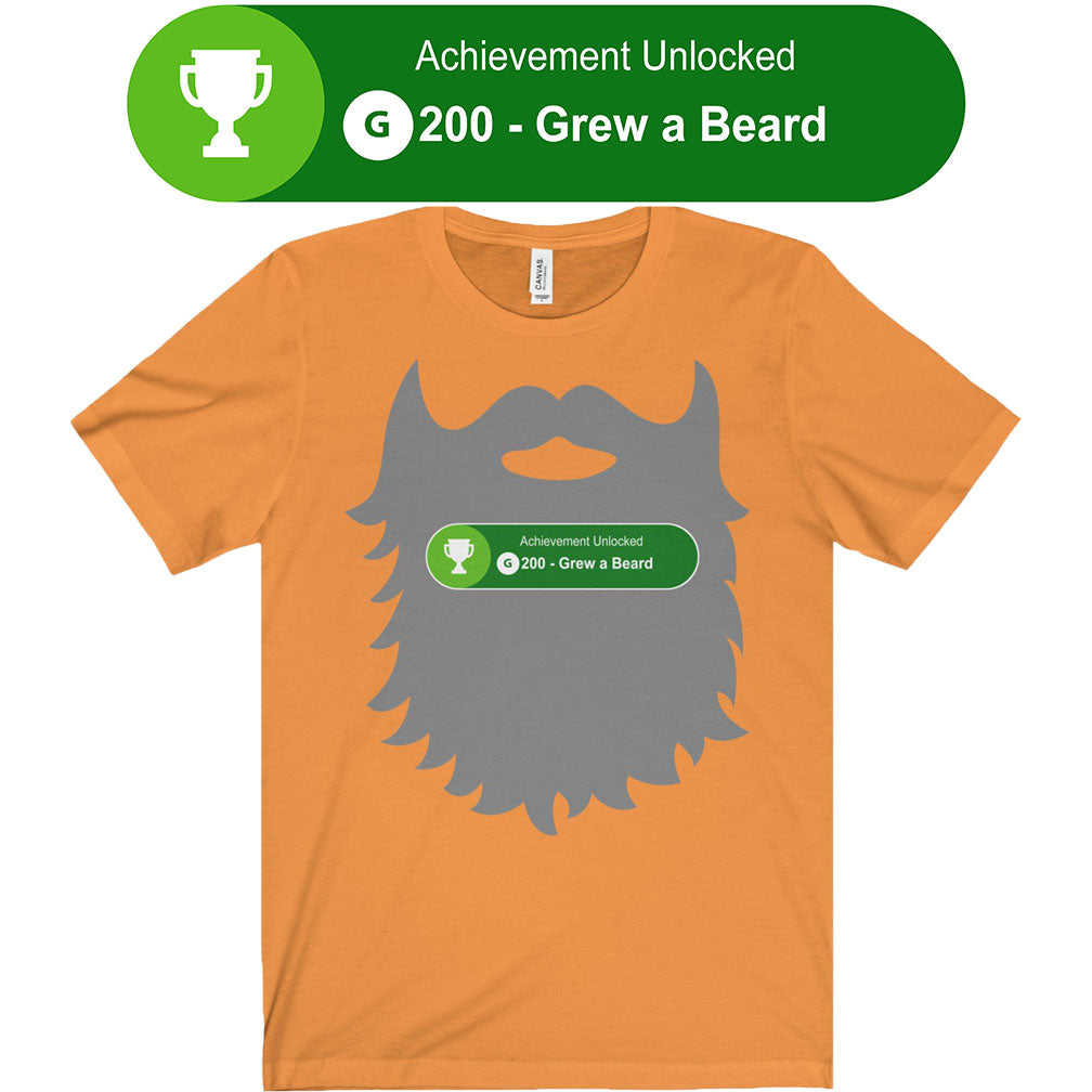 achievement unlocked xbox gaming grew beard men's unisex t-shirt