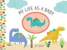 Load image into Gallery viewer, My Life as a Baby: Record Keeper and Photo Album - Dinosaurs - ألبوم مولود جديد ديناصور