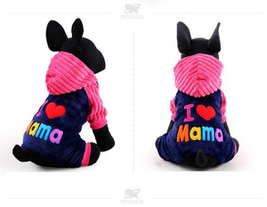 I Love Mama Pet Onesie - جمبسوت وردي