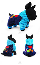 Load image into Gallery viewer, I Love Papa Pet Onesie - جمبسوت أزرق