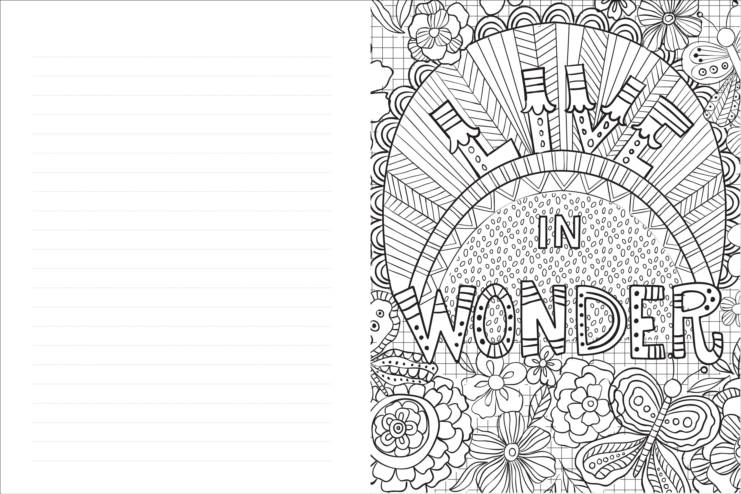 Live, Love, Laugh Coloring Journal - Medium