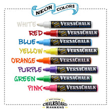 Load image into Gallery viewer, VersaChalk Neon Liquid Chalk Markers (Bold, 8 Pack)