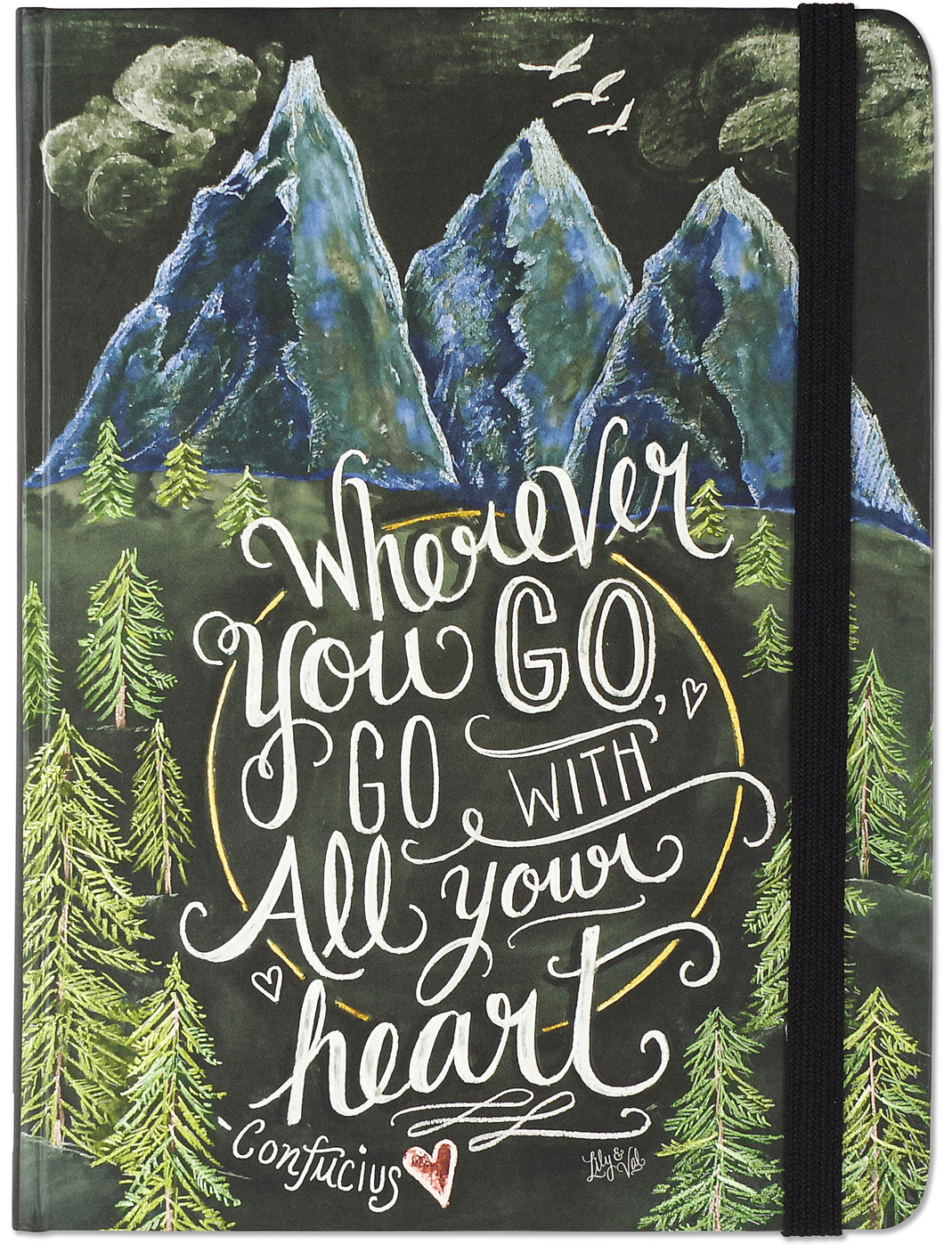 Wherever you go, go with your Heart Journal - Medium - دفتر أينما تذه إذهب مع قلبك وسط
