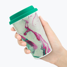 Load image into Gallery viewer, Marble Double Wall Mug - كوب سفري شكل رخام