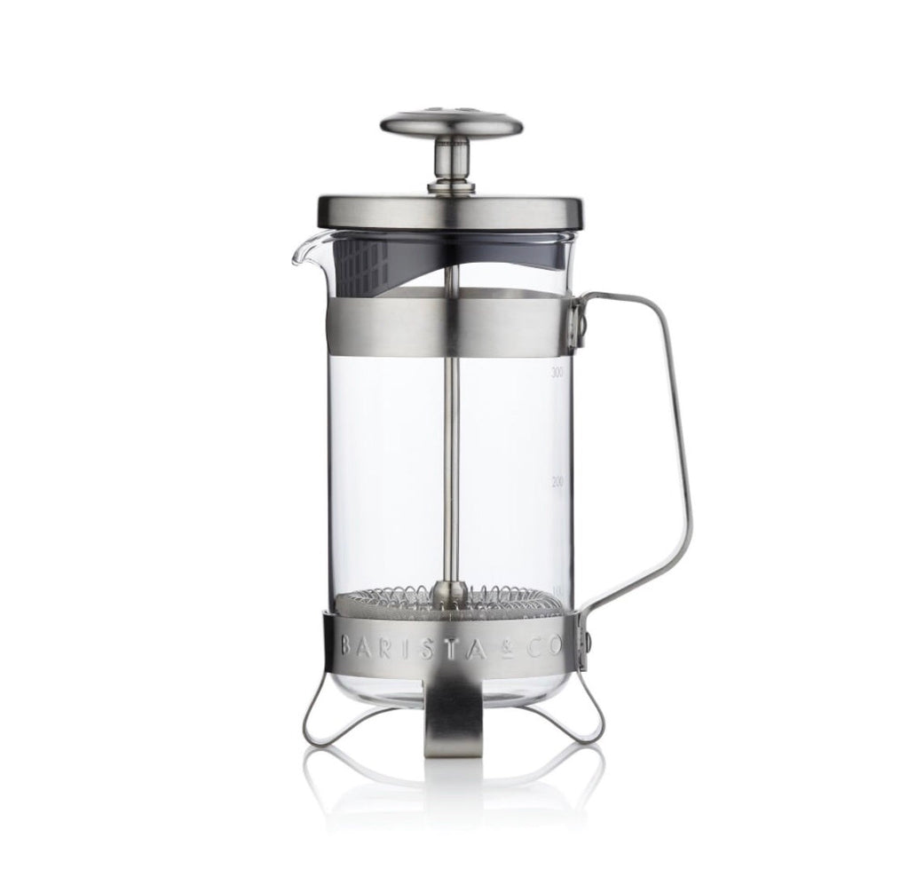 Barista & Co. 3 Cups Coffee Press - Electric Steel