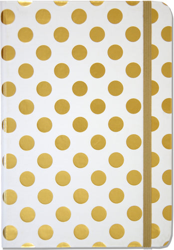 Gold Dots Journal - Small - دفتر نقط ذهبية صغير