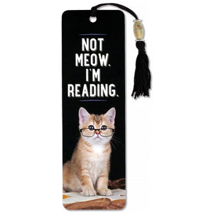 Not Meow, I'm Reading Bookmark