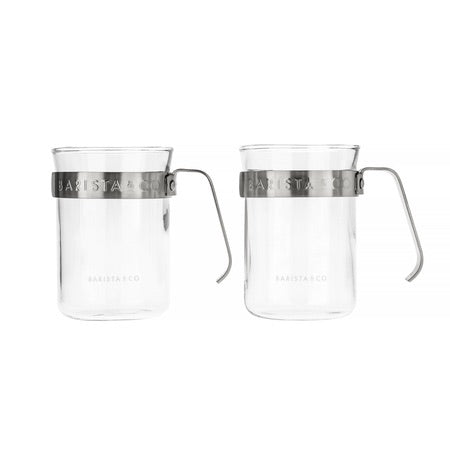 Barista & Co. Metal Frame Cups - Electric Steel (set of two)