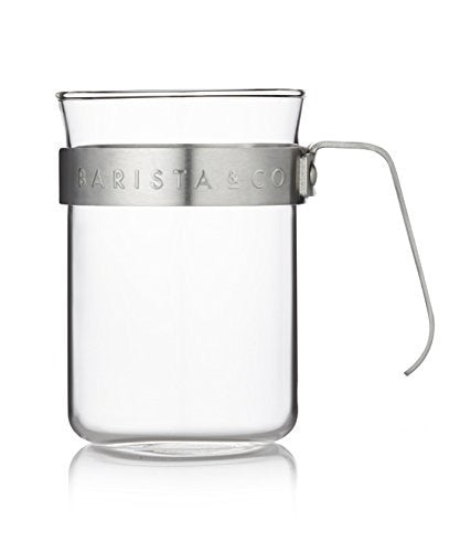 Barista & Co. Metal Frame Cups - Electric Steel (set of two) - طقم أكواب كهوة لون فضي