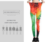 Fitness leggings - Colorful flame - High waist